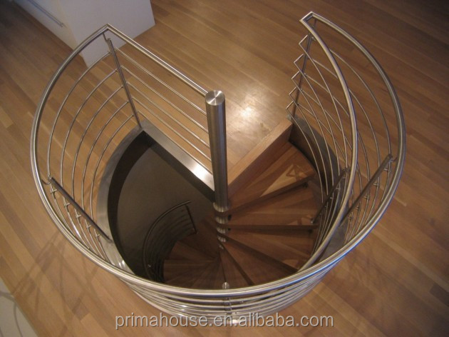 Cheapest Low Price Aluminum Glass Spiral Stairs Buy