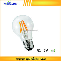 Worbest UL ES Listed Medium Screw Base Edison Vintage Antique A19 E26/E27 8W led filament bulb