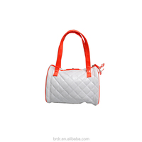 Newest Custom Designer White PU Checked Pattern Lady Handbags