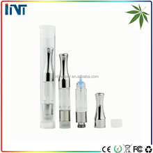 INT E-cigarette G2 .4ml .8ml metal tip CBD THC cartridge atomizer 510 thread buttonless 280mah battery CO2 hemp oil vaporizer