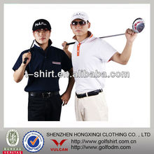 Custom Men Golf Shirts with Jacquard weave Collar