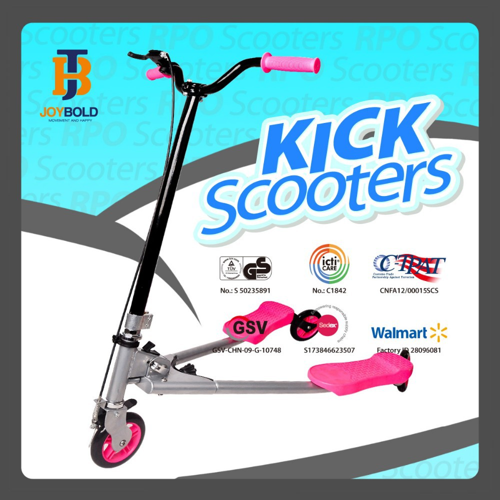 Three wheel adult tri frog swing scooter factory approved by ICTI SMETA GSV BSCI