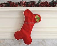Cheap christmas gift bags pet dog bone Christmas stocking