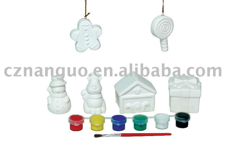 paints for gift diy christmas ceramic ornament