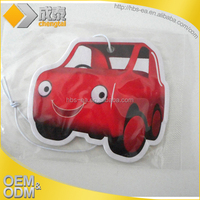 the new style car air freshener promotion hanging paper air freshener