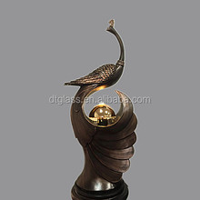 Imitation Peacock Bronze Resin water fog fountain stautes/sculptures