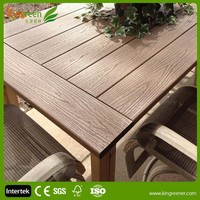 2015 hot sale design dining chair table wood plastic composite coffee chair fresh garden leisure furniture