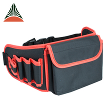 High Quality Durable 600d Polyester Electrician Waist Tool Bag With Quick Adjust Belt