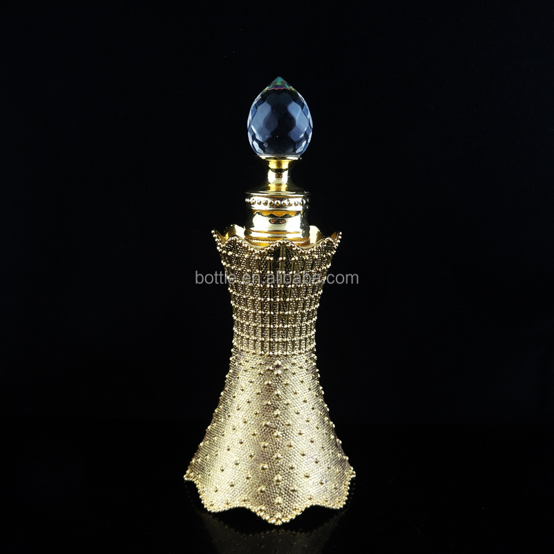 12ml luxury vintage czech handmade rhinestones glass wholesale attar perfume bottle