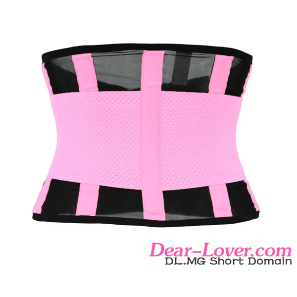 Wholesale pink power belt fitness shaping waist training corsets