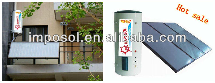 100L-300L low-pressurized panel solar collector/solar panels