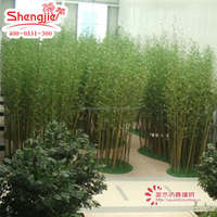 SJ Factory direct artificial tree lucky bamboo plant bamboo pole for garden fence decoration
