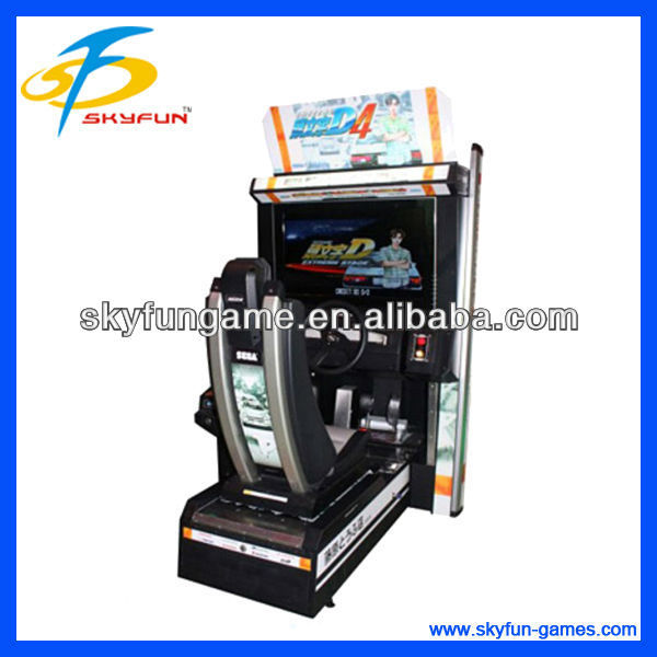 Crazy indoor racing Initial D Arcade Stage 4 car driving simulator