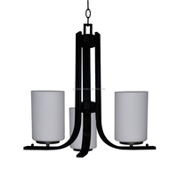 UL &CE approved 3 light chandelier(Lustre/La arana) in ebony brone finish with dove white glass shade CH1986-3UPEBZ