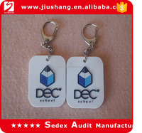 white color custom 3d soft pvc keychain with free sample