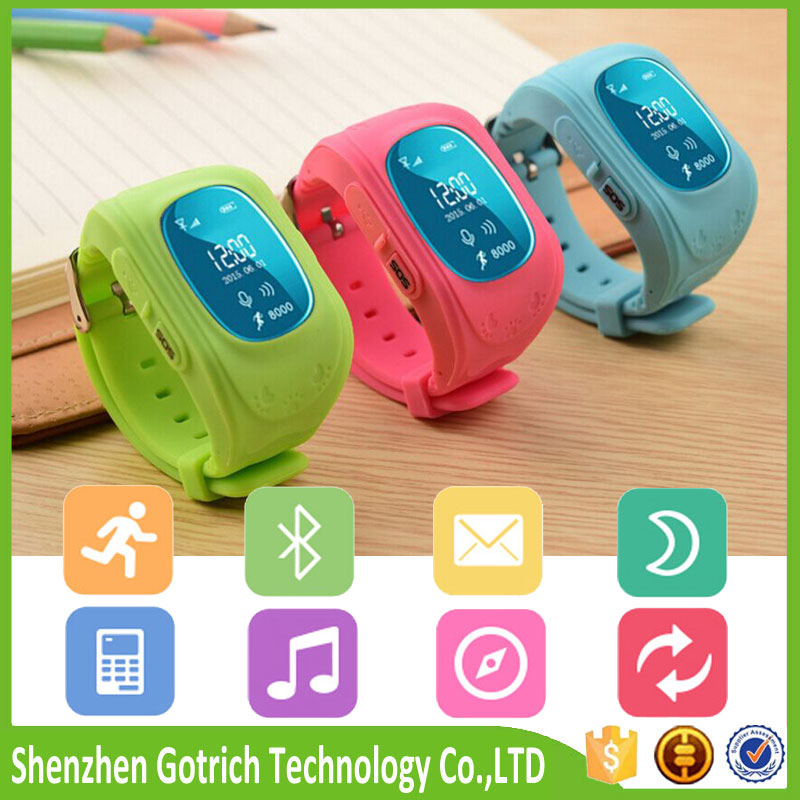 Multi-functional Position monitoring child top watch gps tracker with SOS for smartphone