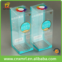 Plastic box for wine clear pvc box with handle for bottles
