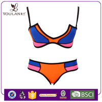 Hot Sales Comfortable Neoprene Push Up Young Girl Hot Sex Photos Bikini Swimwear