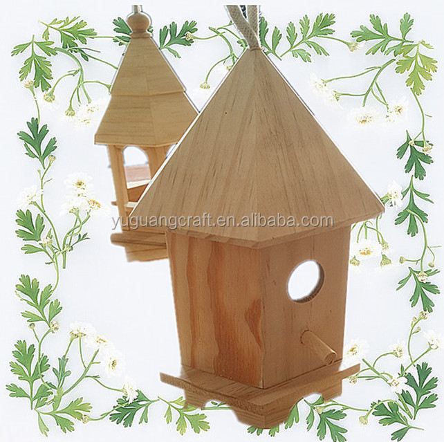 high quality wooden bird nest made by paulownia