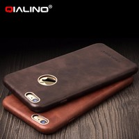 QIALINO Luxury Genuine Leather Phone Case Ultra Slim Back Cover For iPhone 6 6s 4.7 inch