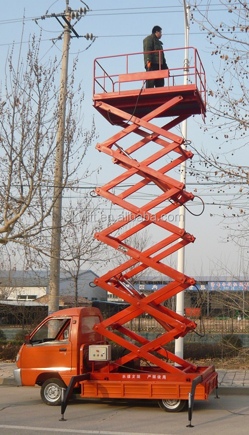 High quality hydraulic scissor lift/ electric platform truck