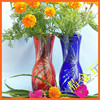 Chinese style old fashioned wholesale table decoration glass vase art vase