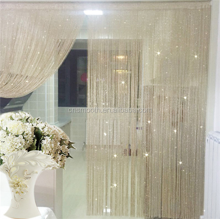 string curtain gold