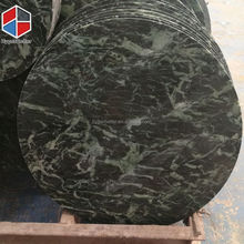 Round glaze dark green nature marble table top