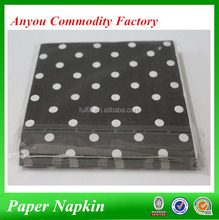 Polka dots paper napkins manufacturer for hotel