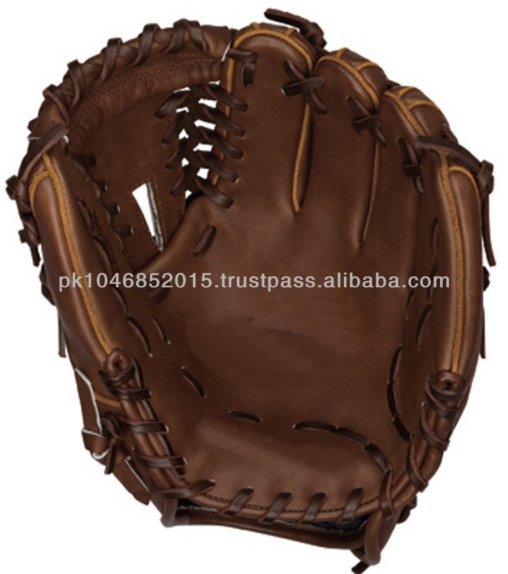 Kip leather hand made Baseball fielding glove Brown Leather