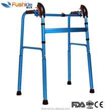 High Quality disable Walker/Aluminum Folding Stair Climbing Walker/w Multidirectional Rotatable Feet