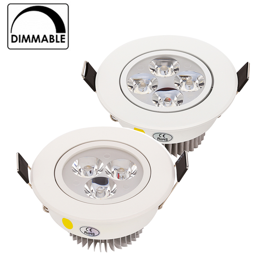 Hot Sale CREE 9W 12W LED Downlight Dimmable Warm White Nature White Pure White Recessed LED Lamp Spot Light AC85-265V