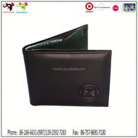 2015 Premium and promotion item !! casual leather mens checkbook wallets