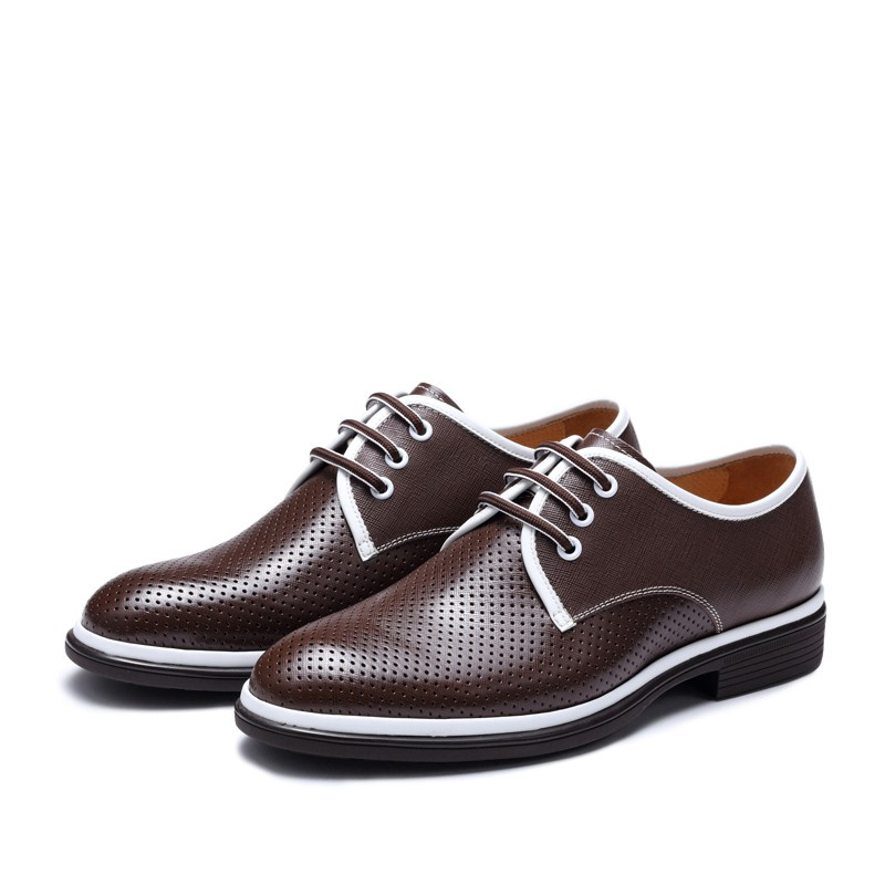 The factory custom OEM Men genuine leather dress shoes/ flat casual sneaker for men name brand