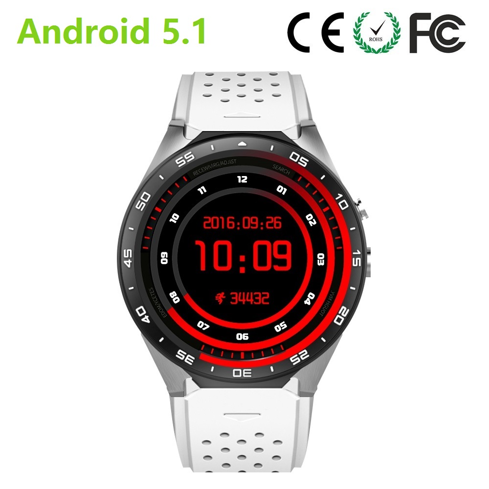 android 5.1 OS quad core sports watch with heart rate test, 3g wifi smart tracker watch with HD camera