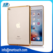 0.5mm clear TPU electroplationg bumper cover case for apple ipad air 2 /for ipad 6 9.7 inch