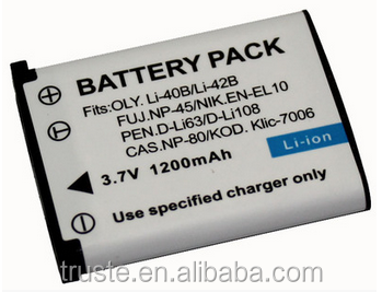 camera digital battery LI40/42B CNP80 FNP45 LI40B LI42B