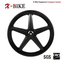 XBIKE professional 5-spoke bicycle carbon road spoke wheel