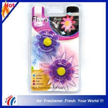 purple flower shape lavender scents air freshener stick/custom flower fragrance air freshener for car vent 2 pieces pack