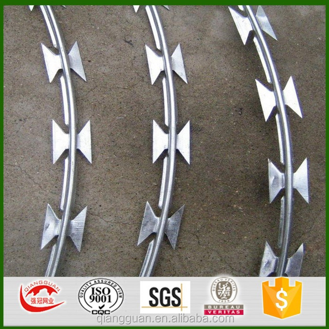 concertina razor wire Thailand/450mm concertina coil/indonesia razor wire BTO22