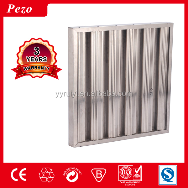 Aluminium and Stainless Steel grease filter