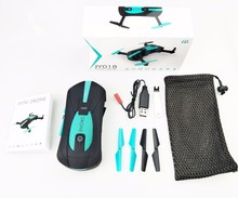 JY018 Foldable Mini Selfie Pocket RC Camera with Wifi FPV Camera Altitude Hold Headless Mode RC Helicopter VS JJRC H37