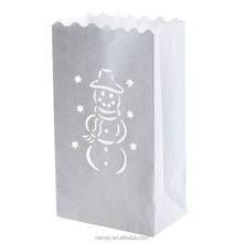 Christmas Fireproof Luminary Paper Candle Bags Lanterns