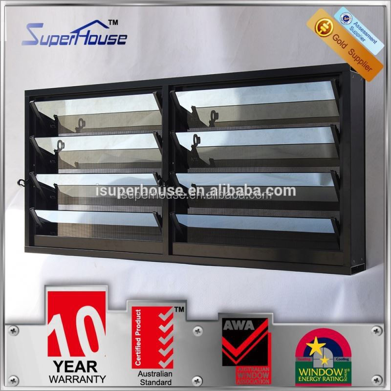 superhouse 10years warranty adjustable glass louvre blade with Australia AS2047 standard