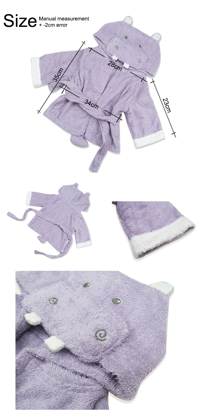 kid baby bath organic cotton hooded towel