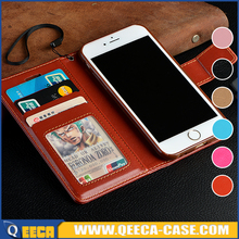 Hot sell mobile phone case~ flip wallet design stand leather case cover for iphone / for samsung