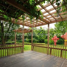 wpc outdoor wooden pergolas
