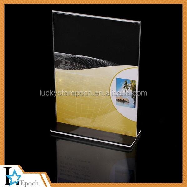Express Clear Plastic AcrylicTable Sign Display Acrylic Menu Paper Card Holder Frame Stand A4
