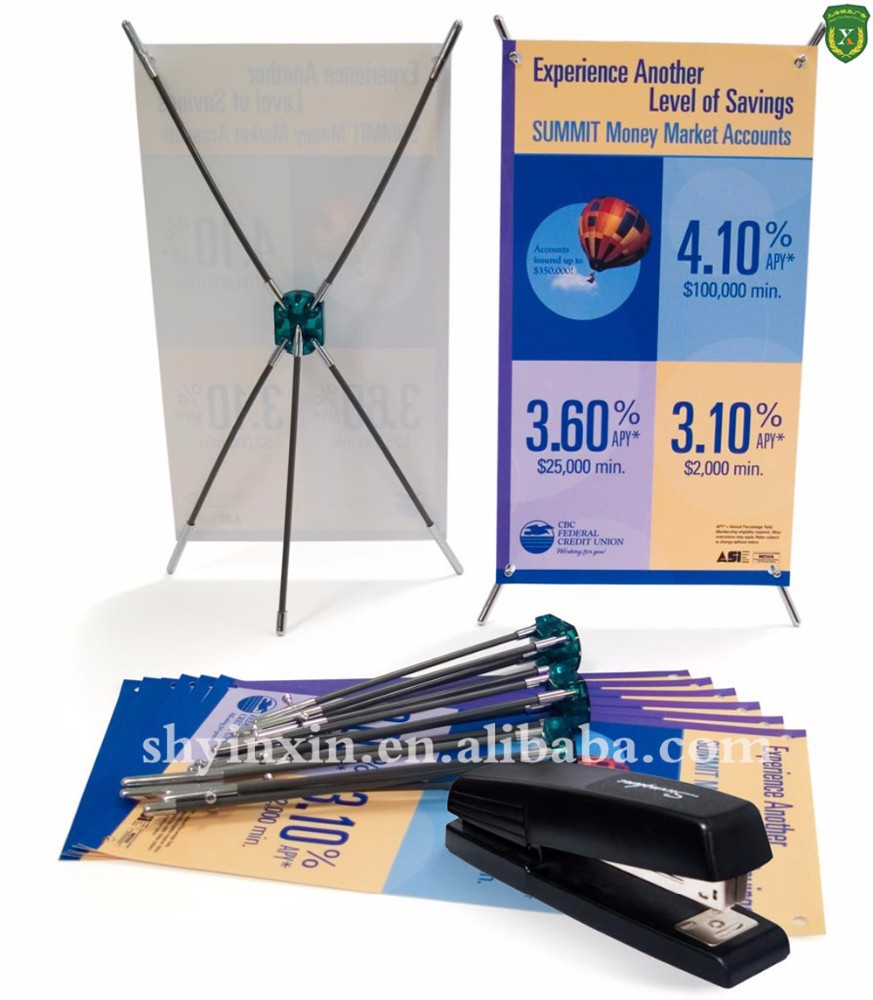 Shanghai Yinxin X banner,advertising equipment X banner, X banner stand