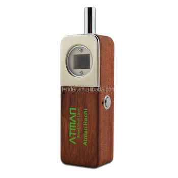 Brazil rose wood vaporizer for dry herb, ATMAN Hachi comes with 1500mah battery herbal vaporizer